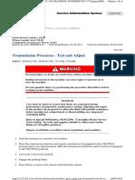 Transmission Pressures - Test and Adjust