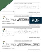 Autorización de Participación Evangelizacion 2014