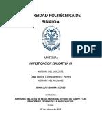 Matriz de Relación de Resultados Del Estudio de Campo y Las Principales Teorías de La Investigación