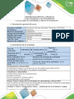 Guía de Actividades y Rúbrica de Evaluación - Paso 2 - Diagnostico
