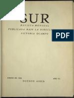 Revista Sur - Año 6, nro. 16 [ene. 1936]