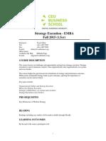 Syllabus Strategy Execution Fall 2015 1.5cr