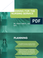 Planning for Nursing Service