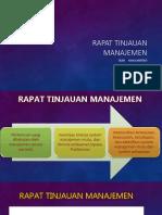 7. Rapat Tinjauan Manajemen