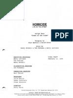Script - Homicide Pilot