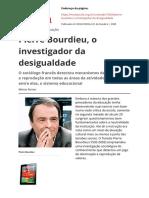Pierre Bourdieu o Investigador Da Desigualdadepdf