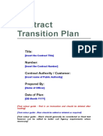 Gs Contract Transition Plan