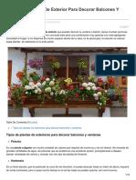 Plantas Colgantes de Exterior Para Decorar Balcones Y Ventanas