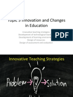 Topic 5 Innovation and Changes in Education