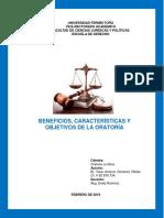 Beneficios, Características y Objetivos de La Oratoria (Tarea Al 17-02-2019)