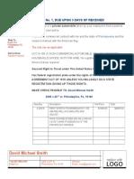 Invoice for Property Taken - Car1