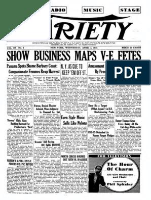 Revista Variety 1945