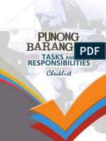 PB Tasks & Responsibilities Checklist