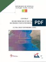 Contrat de Recherche Et de Partage de Production Du2019hydrocarbures Ultra Deep Offshoreudo Total – Petrosen.