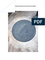 Dokumentasi Perbaikan Manhole Cover IPAL RS Prima Medika