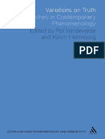 (Issues in Phenomenology and Hermeneutics) Kevin Hermberg, Pol Vandevelde - Variations on Truth_ Approaches in Contemporary Phenomenology-Bloomsbury Academic (2011).pdf