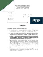 Complaint_affidavit sample