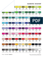 Dual Brush Pen 108 Color Chart