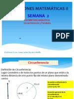 Semana _03_geometria Analitica-circunferencia y Parabola