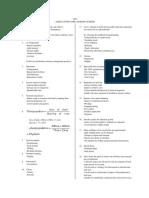 Agriculture Paper 1 Marking Scheme