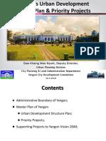 Yangon's Urban Development Master Plan& Priority Projects