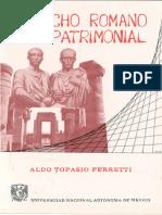 DERECHO ROMANO PATR!MONlAL