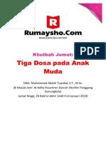 Khutbah Jumat Tiga Dosa Pada Anak Muda Muhammad Abduh Tuasikal RumayshoCom