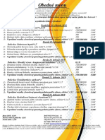 obedné menu  18 .02.   - 22 .02. 2019