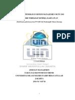 Pengaruh Penerapan Sistem Manajemen Mutu Iso 9001_2008 Terhadap Kinerja Karyawan