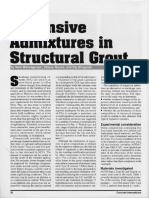 Expansive Additives for Structural Grout