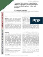 Tratamiento Endodóntico no Instrumentado en dientes deciduos