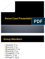 Xerox Case Presentation Final1