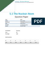 5.1 the Nuclear Atom