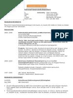 Academic CV Research Associate Medicinal Chemistry