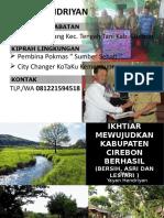 Mewujudkan Kab. Cirebon BERHASIL (Bersih, Hijau, Asri dan Lestari)