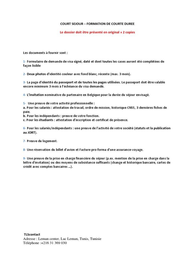 Court Sejour Formation De Courte Duree