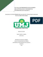 Tugas Manajemen Strategik - Analisis SWOT UMJ
