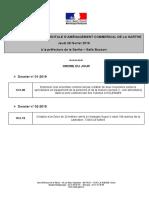 L'ordre du jour de la prochaine CDAC