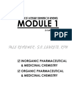 Phle Reviewer Module 1 Pharmaceutical Chemistry
