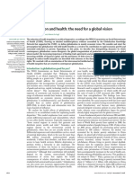 Globalisation and Health- The Need for a Global Vision