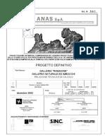 ANAS - Progetto Galleria Ramaione
