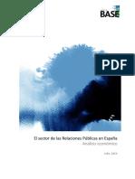 El Sector de Las Relaciones Públicas en España