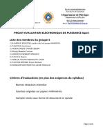 Projet5 Evaluation Electronique de Puissance