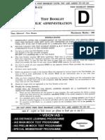 Public Adms Prelim 2008 Question Paper Vision Ias