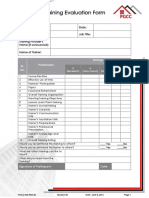 PGCC IMS FRM 20 Training Evaluation Form