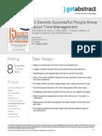 15 Secrets Successful People Know About Time Management Kruse en 25953
