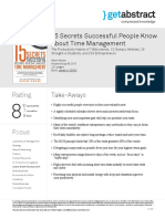 15 Secrets Successful People Know About Time Management Kruse en 25953