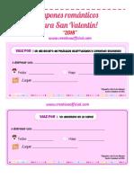 Cupones para San Valentín