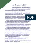 Decreto 78-2002 Nomenclator