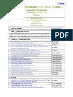 Trustee Agenda 07-13